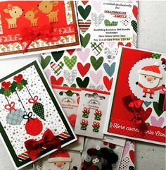 "*New Goodies* doodlebug Exclusive SMS Bundle NOVEMBER ""Here Comes Santa Claus"" Aren't they just yummy cute!! Available in store and online http://scrapbookingmadesimple.com"
