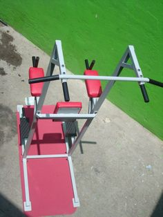 Home Made Gym, Gym Room At Home, Pull Up Station, Pull Up Bar, Gym Workouts, At Home Workouts, Indoor Gym, Men Abs, Gym Machines