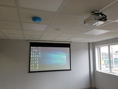Audio Visual Installation Widnes - another installation completed in a small meeting room in Widnes with the install of a Benq 3200 lumens full HD projector, peerless ceiling mount bracket, apart audio speakers & Kramer over CAT6 HDMI and VGA extenders.