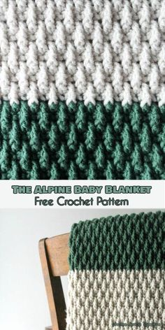 The Alpine Baby Blanket Free Crochet Pattern #freecrochetpatterns #crochetblanket #babyblanket