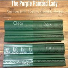 Annie Sloan Chalk Paint colors, Old White, Florence, Olive, Provence; with white wax