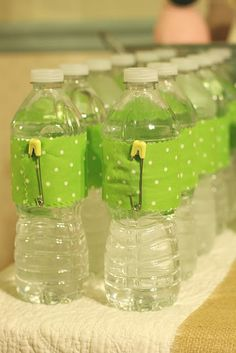 This is such a cute way to present water at a baby shower