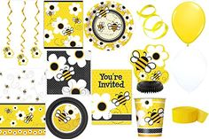 Ultimate Package of Busy Bee Party Supplies for 16 Guests Includes the Following 148 Pieces: Busy Bee http://www.amazon.com/dp/B00P06BN32/ref=cm_sw_r_pi_dp_oB-Hvb1E2ZKXM