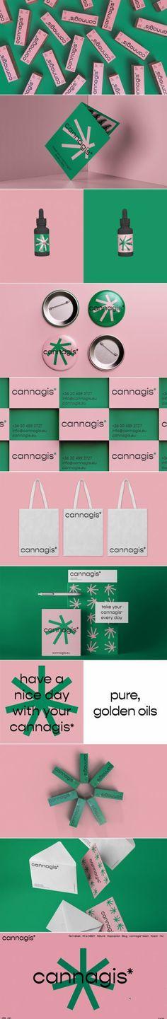 Cannagis* cbd oil company brand identity design by De_Form Studio – corporate branding identity Brand Identity Design, Corporate Design, Branding Design, Logo Design, Corporate Branding, Branding Agency, Logo Branding, Logos, Logo Color Combinations