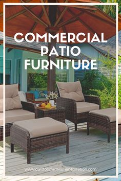 Commercial Patio Furniture Great patio furniture may be a vital thanks to accenting your business outdoor accommodations. Beautiful patio furniture is a perfect way to ensure your guest's comfort and happiness while staying at your resort or business.   If you own a serious business or property, you understand the importance of shopping for quality patio furniture and a price that's suitable for your budget.  By ordering commercial patio furniture at a reasonable price, you, in turn, Commercial Patio Furniture, Outdoor Furniture Sets, Outdoor Decor, Serious Business, Budget, Happiness, Amazing, Shopping, Beautiful