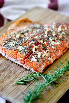 Rosemary and Garlic Roasted Salmon