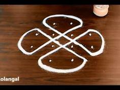 Super star sikku kolam designs, easy melika muggulu designs with 7 to 4 dots, small muggulu designs - YouTube