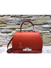 Moynat Large Rejane Structured City Bag Vibrant Orange Fabulous Handbags