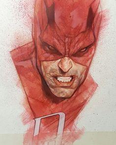 Daredevil by Ben Oliver Comic Book Artists, Comic Artist, Comic Books Art, Ben Oliver, Character Art, Character Design, Cool Sketches, Marvel Art, Netflix
