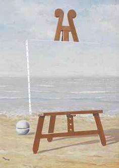 La belle captive - René Magritte - 1946 - larger image at link