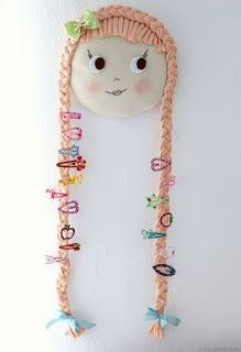 Aprende cómo hacer un hermoso porta accesorios de cabello para niñas ~ Mimundomanual