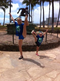 After flying all the way from Australia to Hawaii to compete, you'd think we'd want to rest, but hell no! were cheerleaders, we show off our skills! #queenslandspirit #cheer #meandmygirl