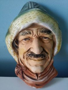 Bekijk dit items in mijn Etsy shop https://www.etsy.com/nl/listing/269777842/bossons-style-mans-head-ceramic-plaster