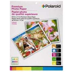 8.5x11-in. Sheets of Polaroid High Gloss Photo Paper, 8-ct. Pack