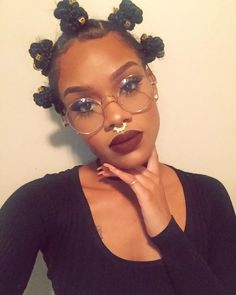 """Lael Mitchell on Instagram: """"Click the link in my bio to order these glasses!  Septum from @gxldroom Lipstick is #LAX from @colourpopcosmetics brows were done using the @kxbrows brow powder in the darkest shade and my lashes if you can see them are from @divinelashco (Aurora)"""""""