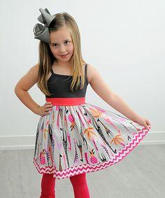 Look at this #zulilyfind! Gray Giraffe Tank Dress - Infant, Toddler & Girls by KPea Original #zulilyfinds