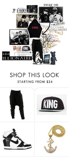 """Jay Park x dok2 - Swag On"" by myxide ❤ liked on Polyvore featuring Official, NIKE, Levi's, aom, hiphop, korean, seattle, illionaire, jay park and gonzo"