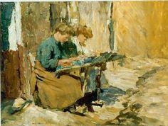 """DAMES DENTELLIERES  """"Jan"""" Adriaan Marie van Anrooy (1901-1988)"""