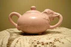 Pink Elephant Vintage Sugar bowl