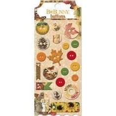 Bo Bunny Chipboard Buttons Enchanted Harvest Fall