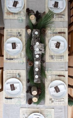 Use vintage sheet music as place mats — and nine other surprising and beautiful tabletop ideas for the holidays, collected by Apartment Therapy. #DIY