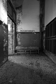 Reminds me of the abandoned insane asylum in Elgin, IL where we would go to raves.