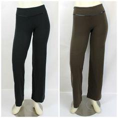 Lululemon 2 Piece Black & Chocolate Brown Athletic Yoga Pants Set Size 6 #Lululemon #Yoga