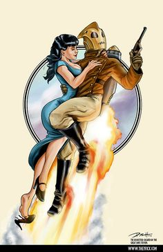 Rocketeer by -Kopetkai    It's been ages since I've seen this film or read these comics.