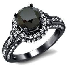 BLACK DIAMOND ENGAGEMENT RINGS | Pitch Black Diamonds - Unusual Engagement Rings Review