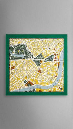 London Map Print Silk Square, Where would you hang this? http://keep.com/london-map-print-silk-square-by-kaiju/k/3BeVo3gBC4/
