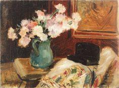 Still Life with Chrysanthemums - Micaela Eleutheriade