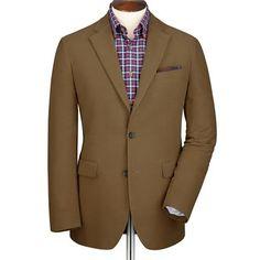 Camel moleskin unstructured Classic fit jacket