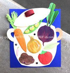 ДЕТСКИЕ ПОДЕЛКИ Autumn Crafts, Autumn Art, Summer Crafts, Diy And Crafts, Arts And Crafts, Paper Crafts, Painting For Kids, Art For Kids, Vegetable Crafts