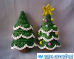 I love Christmas tree. That's why I share this pattern to you who celebrate Christmas. This free amigurumi pattern tree is so easy to crochet. You can add crochet chain on the top of this tree to hang Crochet Christmas Decorations, Christmas Tree Pattern, Crochet Christmas Ornaments, Crochet Decoration, Christmas Crochet Patterns, Holiday Crochet, Christmas Knitting, Crochet Patterns Amigurumi, Crochet Winter