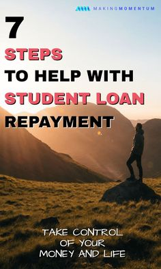 Student loan debt can be daunting and overwhelming as you start your financial journey. Here are 7 steps I took to build a student loan repayment plan and take control of my debt. #studentloans #personalfinance #savemoney #makemoney