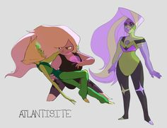 Peridot Amethyst fusion! Never seen this before! :D By Disteal on tumblr (Steven Universe)