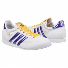 adidas Dragon Nylon Pre/Grd Shoes (White/Purple/Sun) - Kids' Shoes - 3.0 M