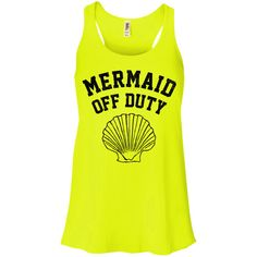 c7df0e150e63a Mermaid+Off+Duty+(Black)+Racerback+Tank+Top Mermaid Shirt