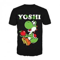 Super Mario Yoshi Black T-Shirt from Gamerabilia �14.99