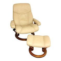 Ekornes Stressless Sand Paloma Leather Chair Recliner u0026 Ottoman  sc 1 st  Pinterest & The Ekornes Stressless Governor Recliner with Matching Ottoman ... islam-shia.org