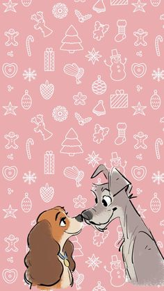 Christmas wallpaper with lady and the tramp❤️ Disney Mural, Disney Canvas Art, Disney Art, Disney Movies, Cute Fall Wallpaper, Christmas Wallpaper, Disney Doodles, Disney Sleeve, Disney Dogs