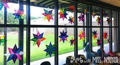 Radial Origami Suncatchers (5th)