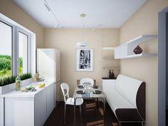 Black White Cream Minimalist Kitchen Dining Set