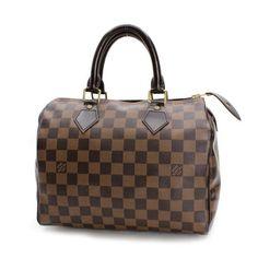 Louis Vuitton Speedy 25 Damier Ebene Handle bags Brown Canvas N41532