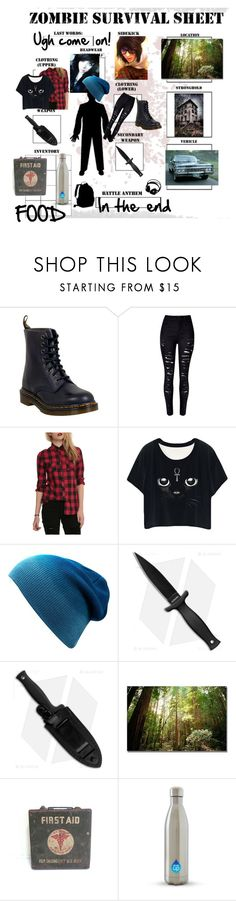 """Untitled #11"" by sarin-the-killjoy ❤ liked on Polyvore featuring Dr. Martens, WithChic and Trademark Fine Art"
