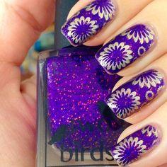 Bright purple.