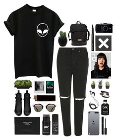 """ur strange lover"" by caramelanxs ❤ liked on Polyvore featuring mode, Topshop, Yves Saint Laurent, Acne Studios, Christian Dior, NARS Cosmetics, Lux-Art Silks, adidas, DEOS en Chanel"