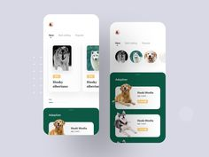 Pet Adoption App Concept by Luova Studio on Dribbble Adoption Party, Pet Adoption, Animal Adoption, Black Butler, Ios App, App Design, Mobile Design, Family Friendly Dogs, Hospital Signs