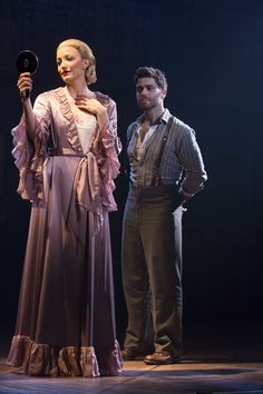 Caroline Bowman as 'Eva' and Josh Young as 'Che' in the touring cast of EVITA. Photo Credit: Richard Termine