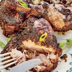 Jerk Chicken by Miss South from her cookbook Slow Cooked. This spicy chicken main course recipe uses Scotch bonnet peppers for a hot and fruity flavour and well as a generous quantity of allspice. Perfect for long cooking in a slow cooker. Chicken Main Course Recipes, Chicken Recipes, Chicken Feed, Jerk Chicken, Jamie Oliver Chicken, Slow Cooker Recipes, Cooking Recipes, Jamaican Recipes, Recipe Using